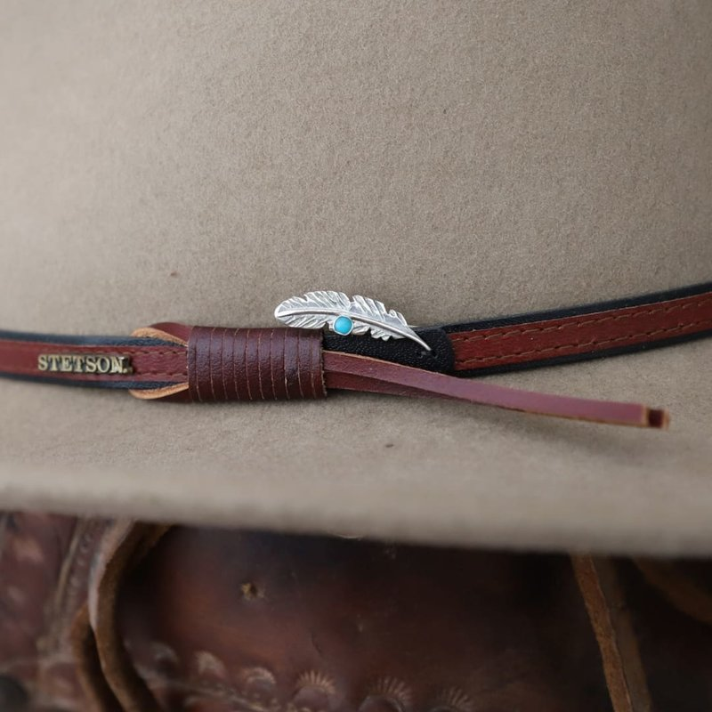 Feather Turquoise Joe Eby Hat Pin
