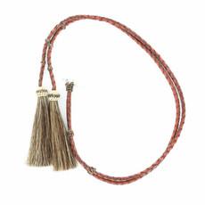 Leather Stampede String | Horsehair