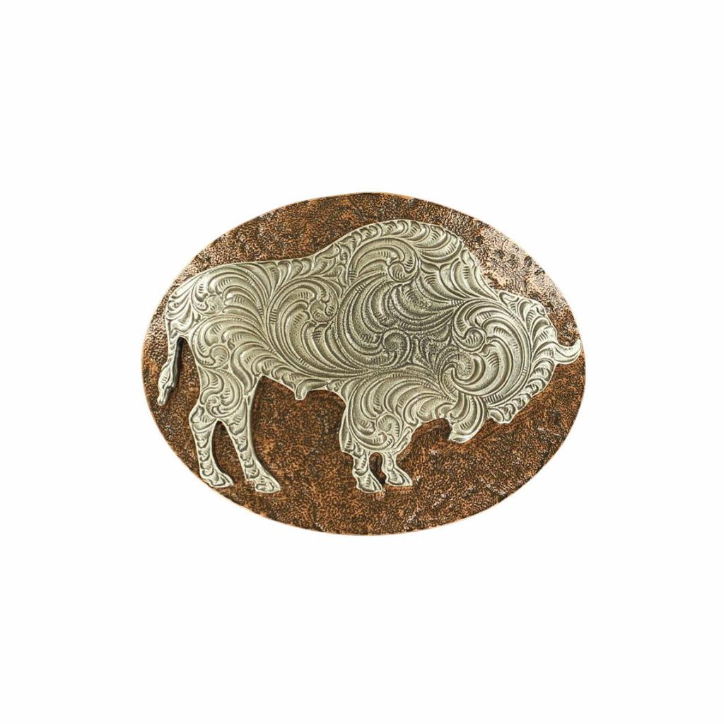 Nocona   Copper Buffalo Belt Buckle