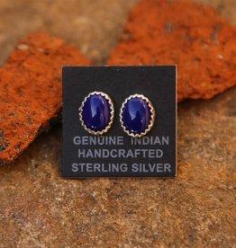 Sterling | Lapis Stud Earrings