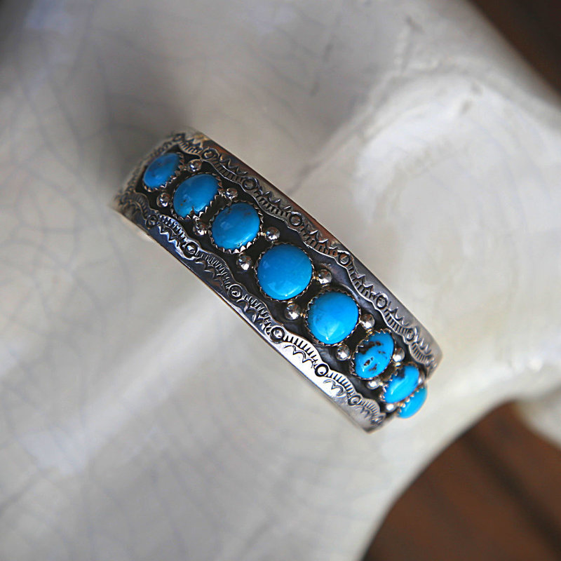 Sterling   Turquoise Cuff Bracelet