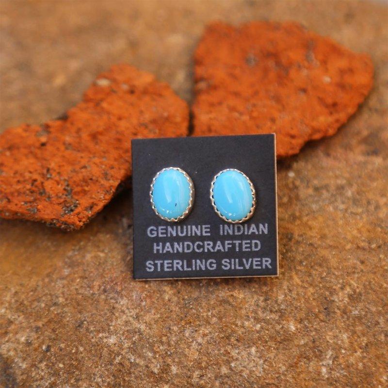 Sterling | Turquoise Stud Earrings