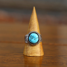 Sterling   Turquoise Ring   Size 12 1/2