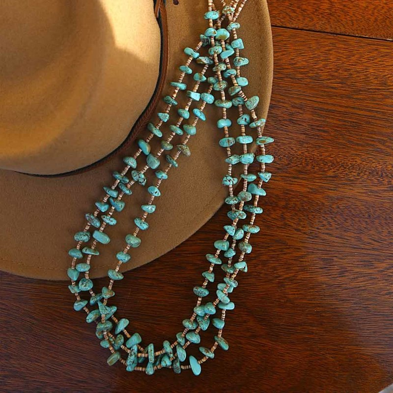 Turquoise | #8 Heishi Shell Necklace