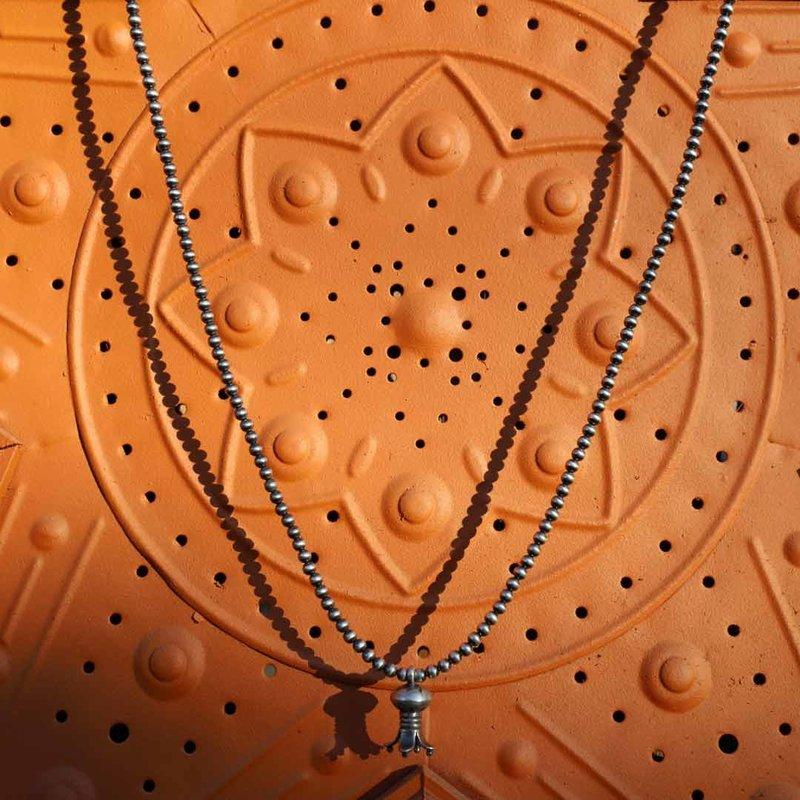 Desert Pearl Collection Mini Squash Blossom Necklace