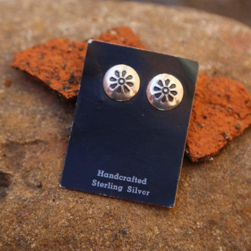Sterling | Floral Stamped Earrings
