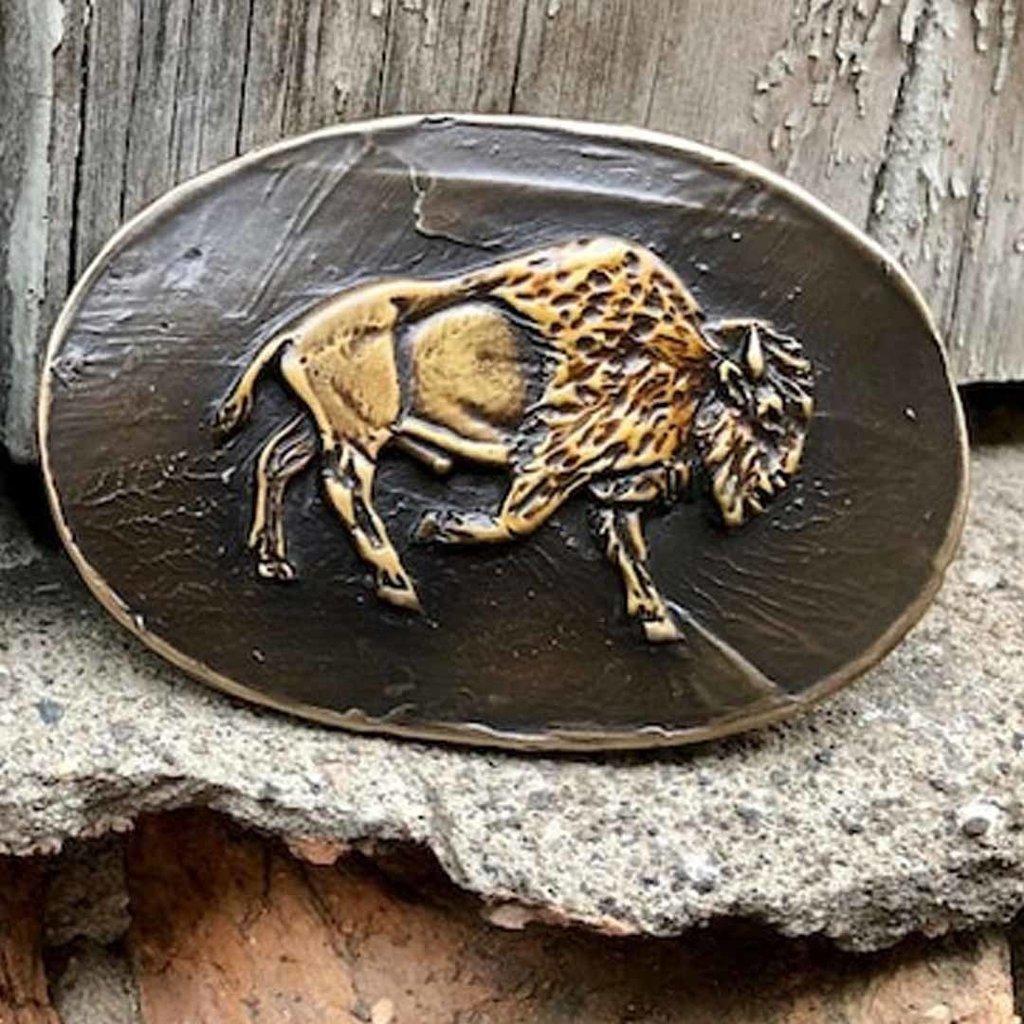 Waterhorse Bronze Designs Waterhorse Bronze | Bison Oval Belt Buckle
