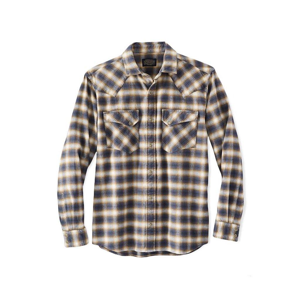 Pendleton Pendleton | Wyatt Shirt | Navy + Tan Plaid