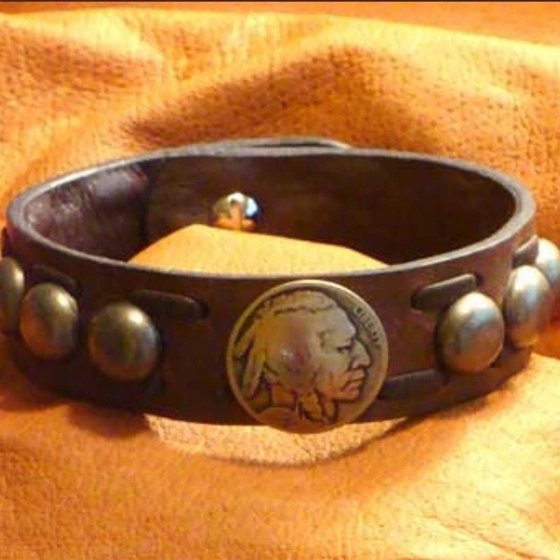 Buffalo Nickel Domes Bracelet