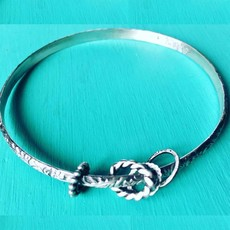 Cynthia Out West   Sterling Bangle Bracelet