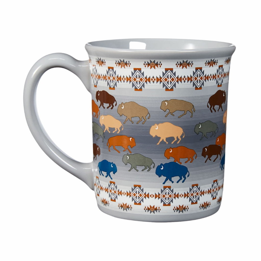 Pendleton Pendleton   18 oz Ceramic Mug   Prairie Rush Hour   Grey