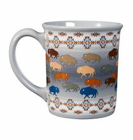 Pendleton 18 oz Ceramic Mug | Prairie Rush Hour | Grey