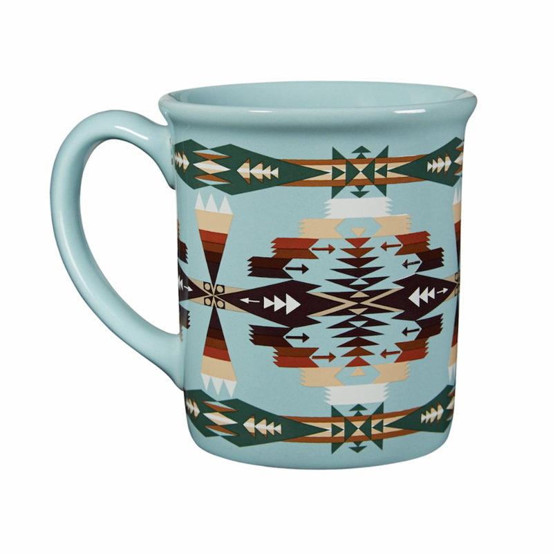 Pendleton 18 oz Ceramic Mug | Tucson Aqua