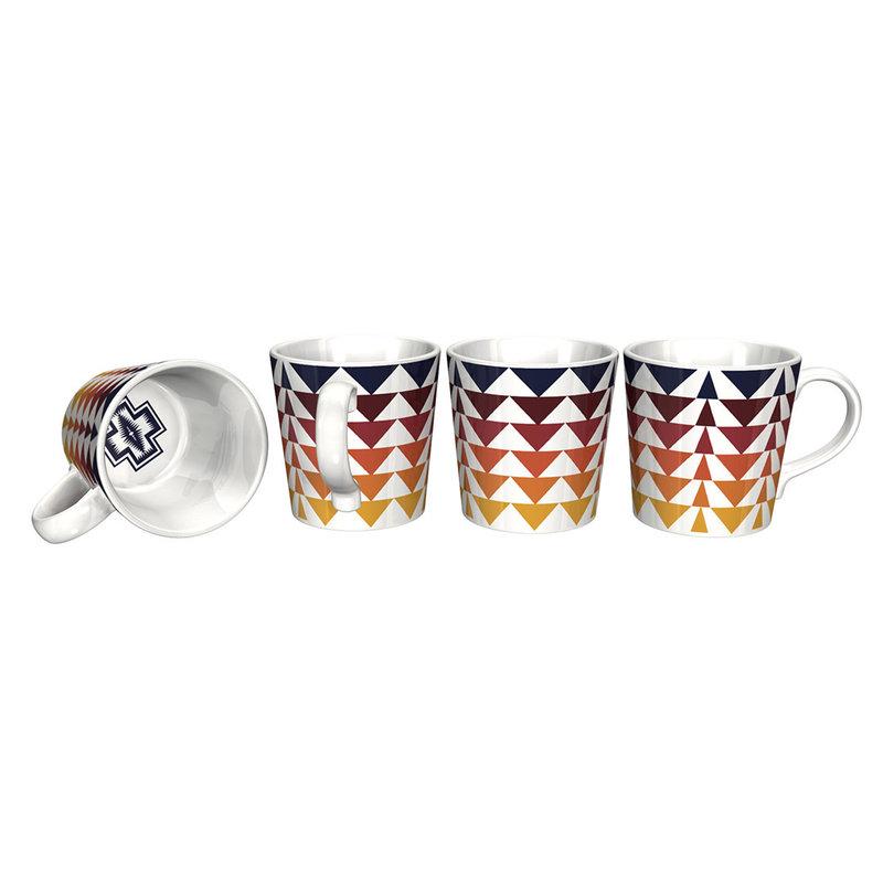 Pendleton Tapered 12 oz Mug Set of 4 | Harding Collection