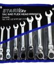 STARK Stark Elite Flexhead Ratcheting Wrench Set SAE 7pc