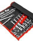 XTREMEPOWERUS XtremePowerUS Ratcheting Flex Wrench Set 12pc SAE MM