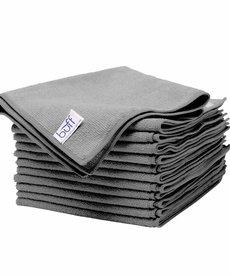 "BUFF Buff Microfiber Rags 12 Pack 16"" x 16"" Gray"