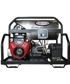 SIMPSON Simpson Super Brute 3500 PSI at 5.5 GPM VANGUARD V-Twin with COMET Triplex Plunger Pump Hot Water Professional Gas Pressure Washer