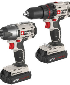 """PORTER CABLE Porter Cable 2-Tool Combo Kit 1/2"""" Drill & 1/4"""" Impact Driver 20V"""