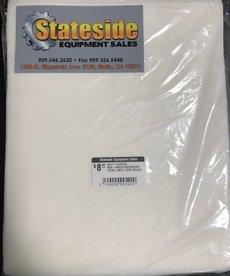 STATESIDE EQUIPMENT 1 Pack of 80 MULTI PURPOSE NON-WOVEN ABSORBENT TOWEL WHITE SEMI-ROUGH