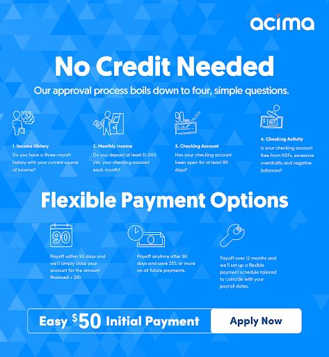 Acima financing application