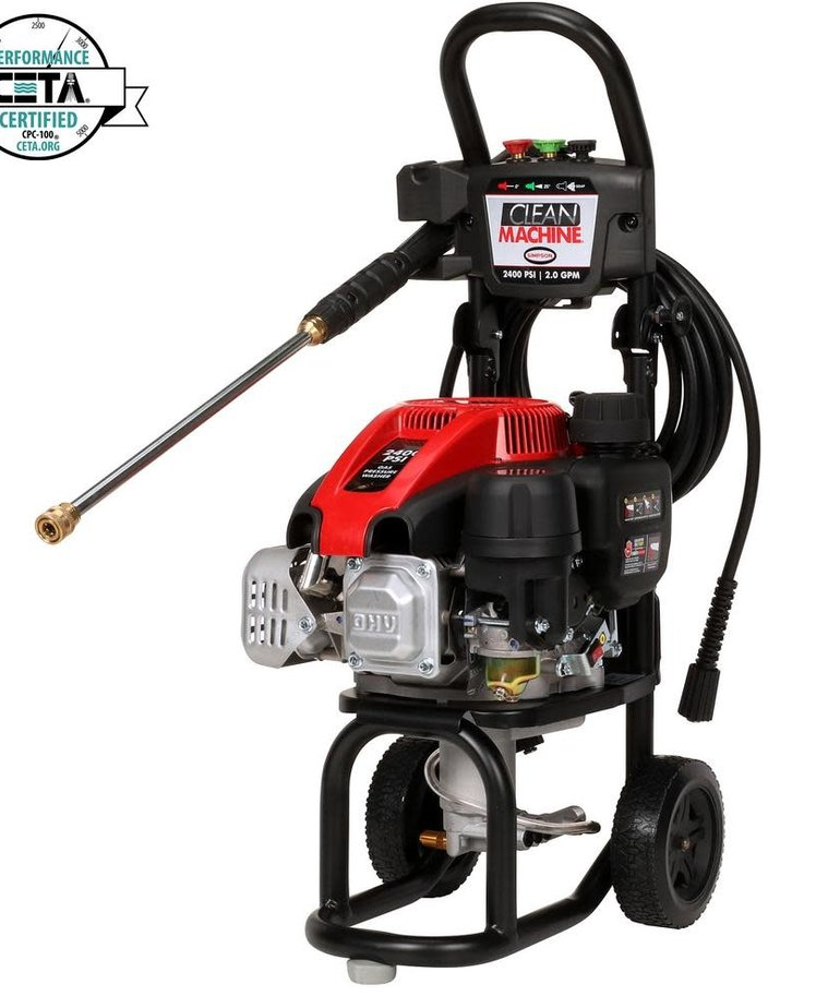 SIMPSON Clean Machine by SIMPSON 2400 PSI at 2.0 GPM SIMPSON 149cc Cold Water Residential Gas Pressure Washer