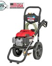SIMPSON Simpson MegaShot 3000 PSI at 2.4 GPM HONDA GCV160 with OEM Technologies Axial Cam Pump Cold Water Premium Residential Gas Pressure Washer