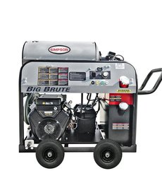 SIMPSON Simpson Big Brute 4000 PSI at 4.0 GPM VANGUARD V-Twin with COMET Triplex Plunger Pump Hot Water Direct Professional Gas Pressure Washer