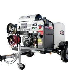 SIMPSON Simpson 4000 PSI at 4.0 GPM VANGUARD V-Twin with COMET Triplex Plunger Pump Hot Water Professional Gas Pressure Washer Trailer