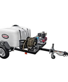 SIMPSON Simpson 3800 PSI at 3.5 GPM HONDA GX270 with CAT Triplex Plunger Pump Cold Water Professional Gas Pressure Washer Trailer
