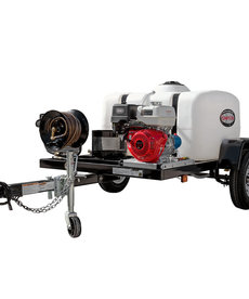 SIMPSON Simpson 4200 PSI at 4.0 GPM with HONDA GX390 CAT Triplex Plunger Pump Cold Water Professional Gas Pressure Washer Trailer
