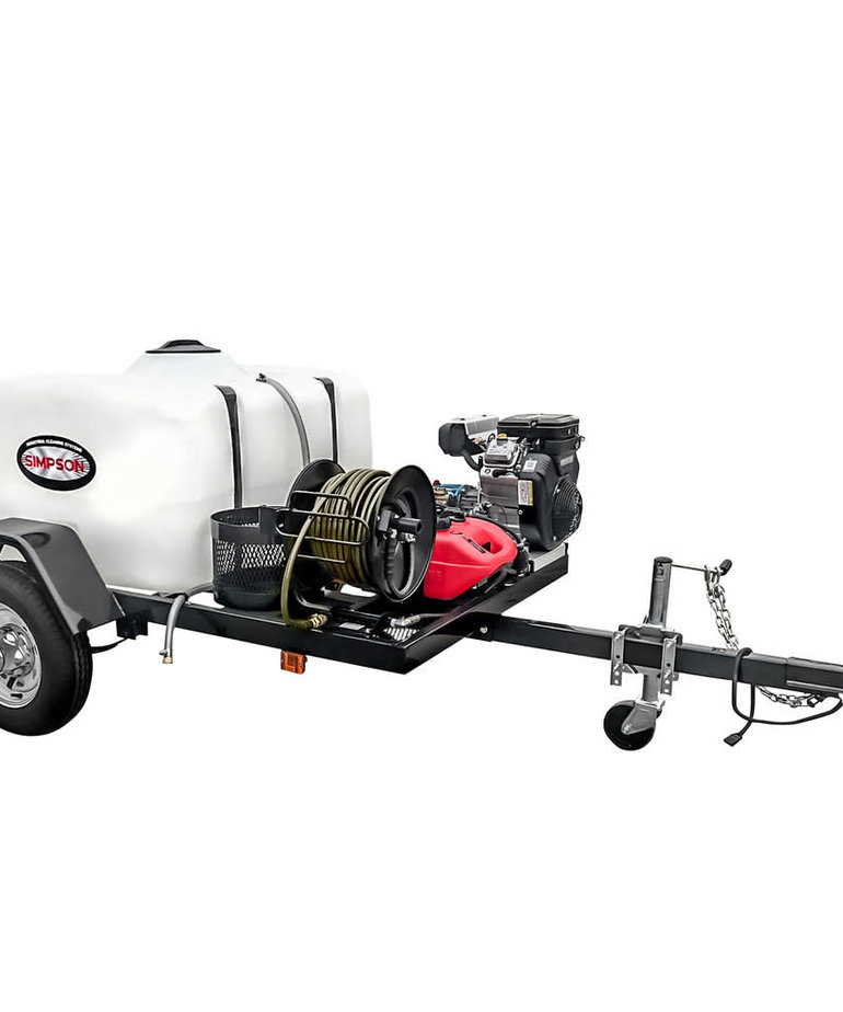 SIMPSON Simpson 4200 PSI at 4.0 GPM VANGUARD V-Twin with CAT Triplex Plunger Pump Cold Water Professional Gas Pressure Washer Trailer