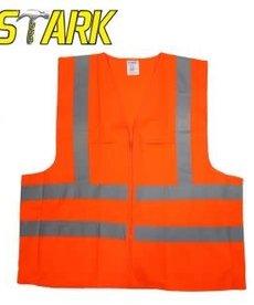 STARK Stark Safety Vest Orange 2 Pocket ANSI Large