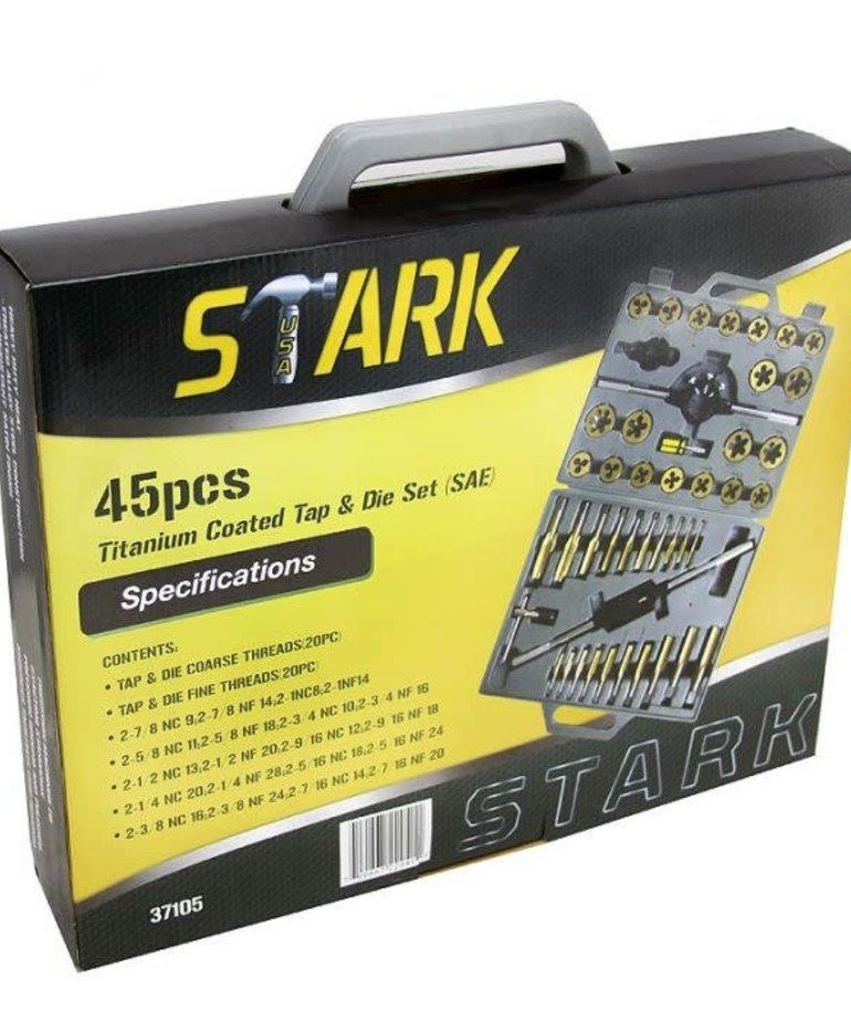 STARK Stark Tap & Die SAE Titanium Alloy 45pc