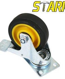 """STARK Stark PVC Swivel Caster 4"""" Double Brake"""