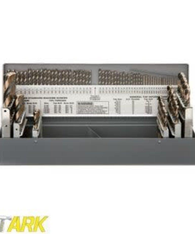 STARK Stark Drill Bit Set Titanium w/ Metal Case 115pc