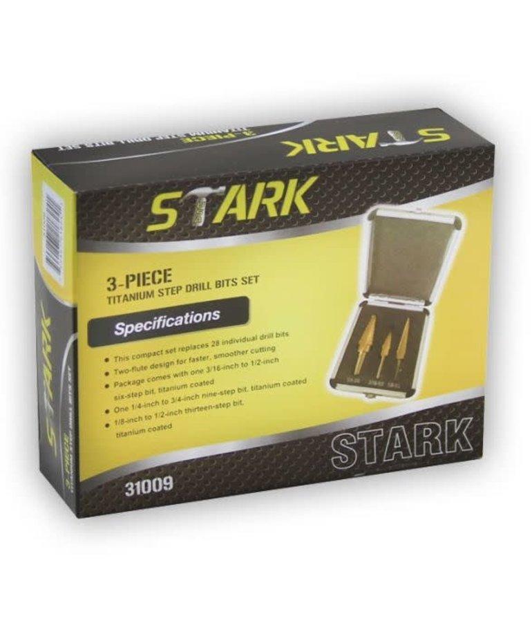 STARK Stark Step Bit Set Titanium SAE 3pc
