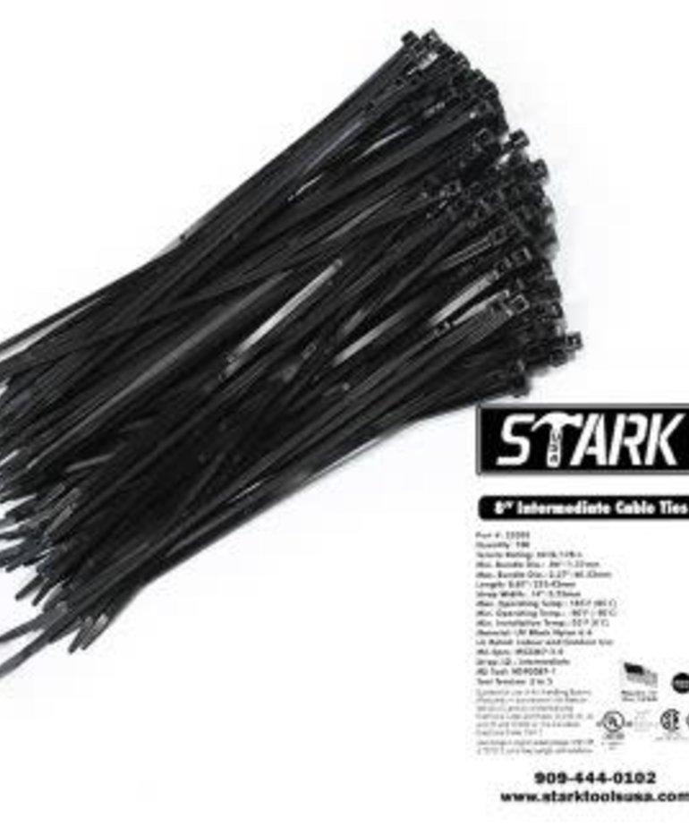 "STARK Stark Cable Ties 8"" UV 100pc"
