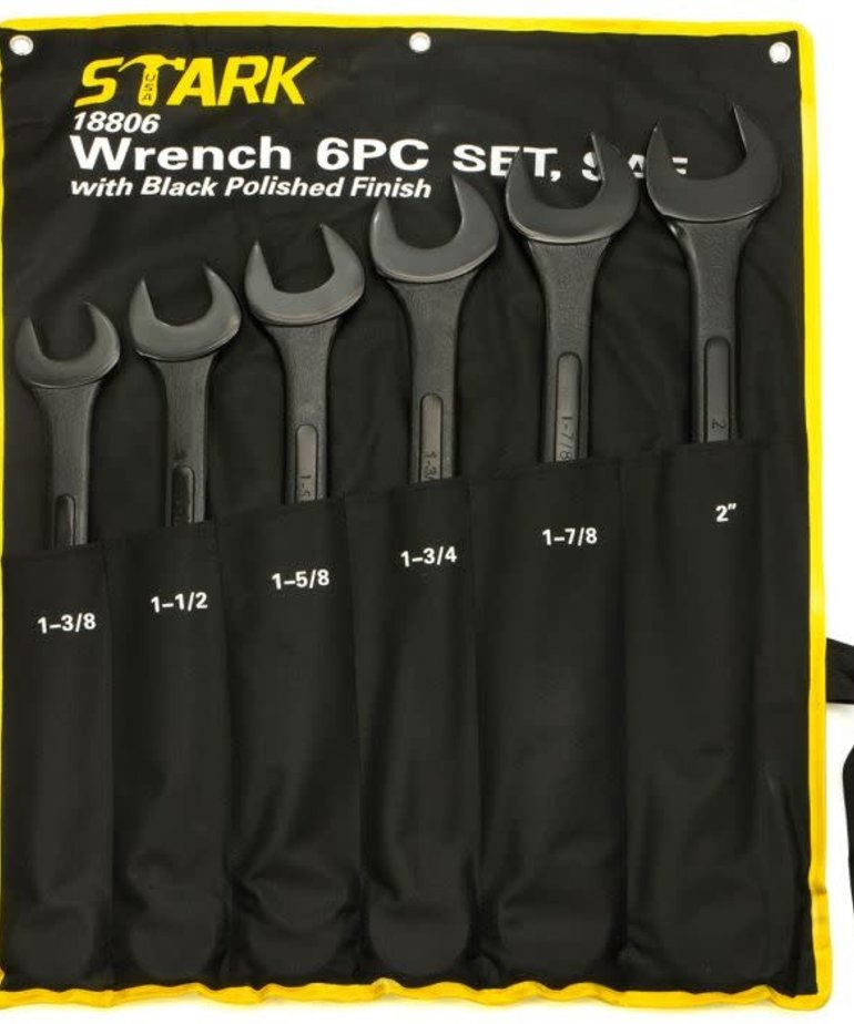 STARK Stark Wrench Set Jumbo Black SAE 6pc