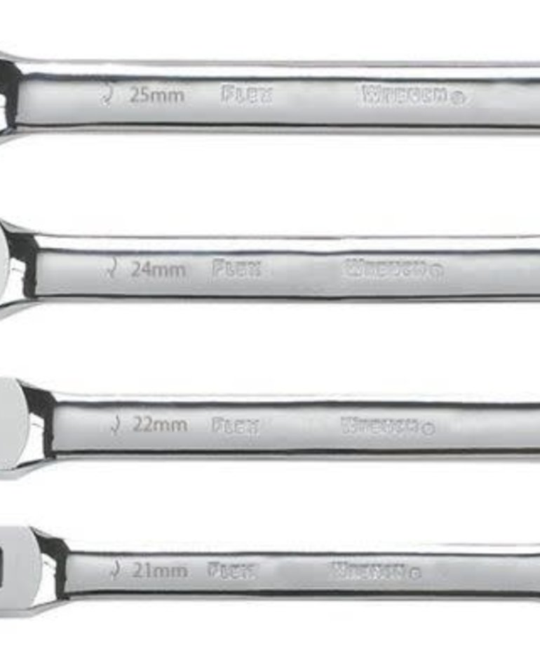 STARK Stark Flex Head Ratcheting Wrench Set MM 4pc