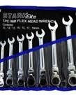 STARK Stark Elite Flex Head Ratcheting Wrench Set MM 7pc