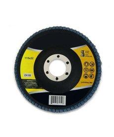 "STARK Stark Flat Flap Disc Zirc 100 Grit 4-1/2"""