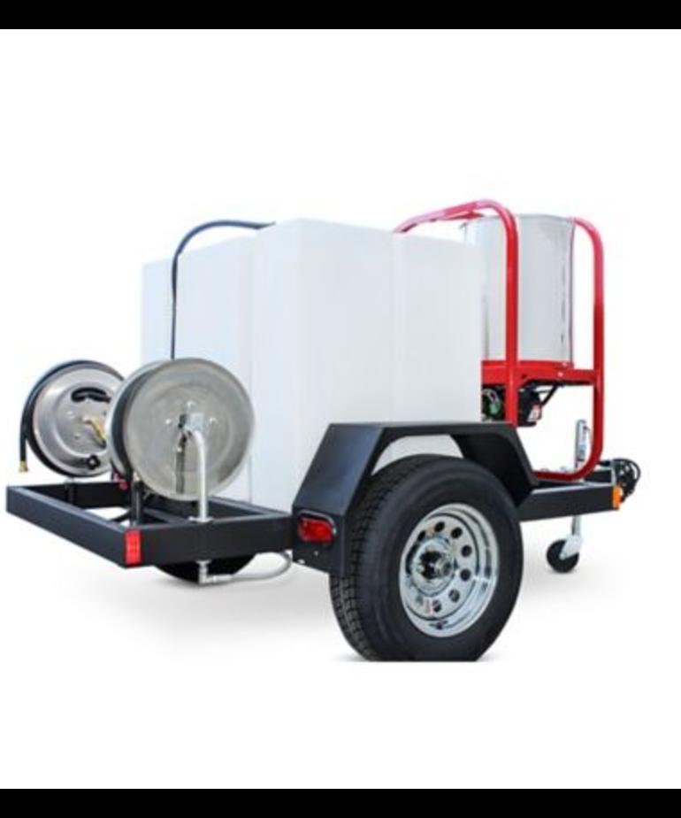 PRESSURE-PRO Hot2Go Professional 4000 PSI (Gas - Hot Water) Pressure Washer Trailer w/ Honda GX 390 Engine