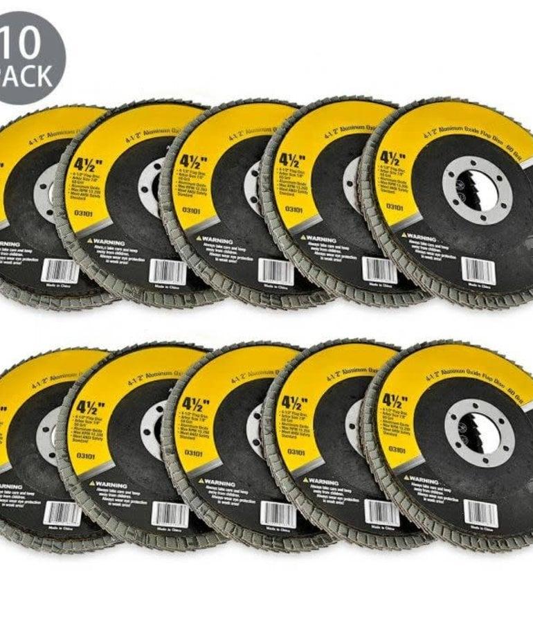 """STARK Stark Flat Flap Disc A/O 60 Grit 4-1/2"""""""