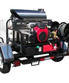 PRESSURE-PRO Pressure Pro Pro-Super Skid Tow-Pro Trailer Series Pressure Washer 3500 PSI @ 5.5 GPM Honda Gas