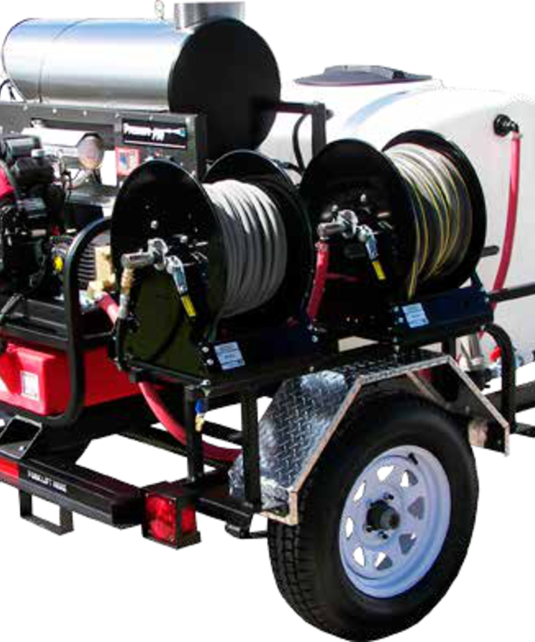 PRESSURE-PRO Pressure Pro Pro-Super Skid Tow-Pro Trailer Series Pressure Washer 3000 PSI @ 8 GPM Honda Gas
