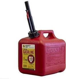 MIDWEST CAN Midwest Can Gasoline Can Quick-Flow Spout Auto Shut Off 2 Gallons
