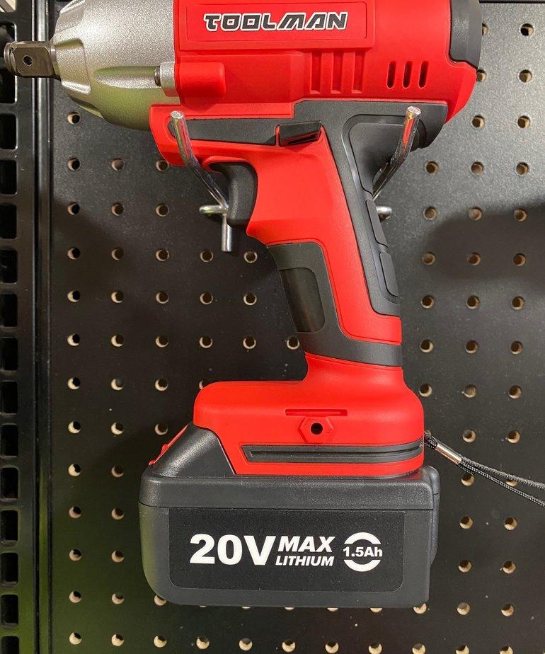 "TOOL MAN Toolman Impact Wrench Cordless 1/2"" 20V"