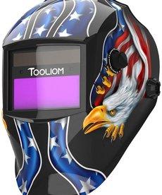 TOOLIOM Tooliom Solar Powered Auto Darkening Welding Helmet with Adjustable Shade