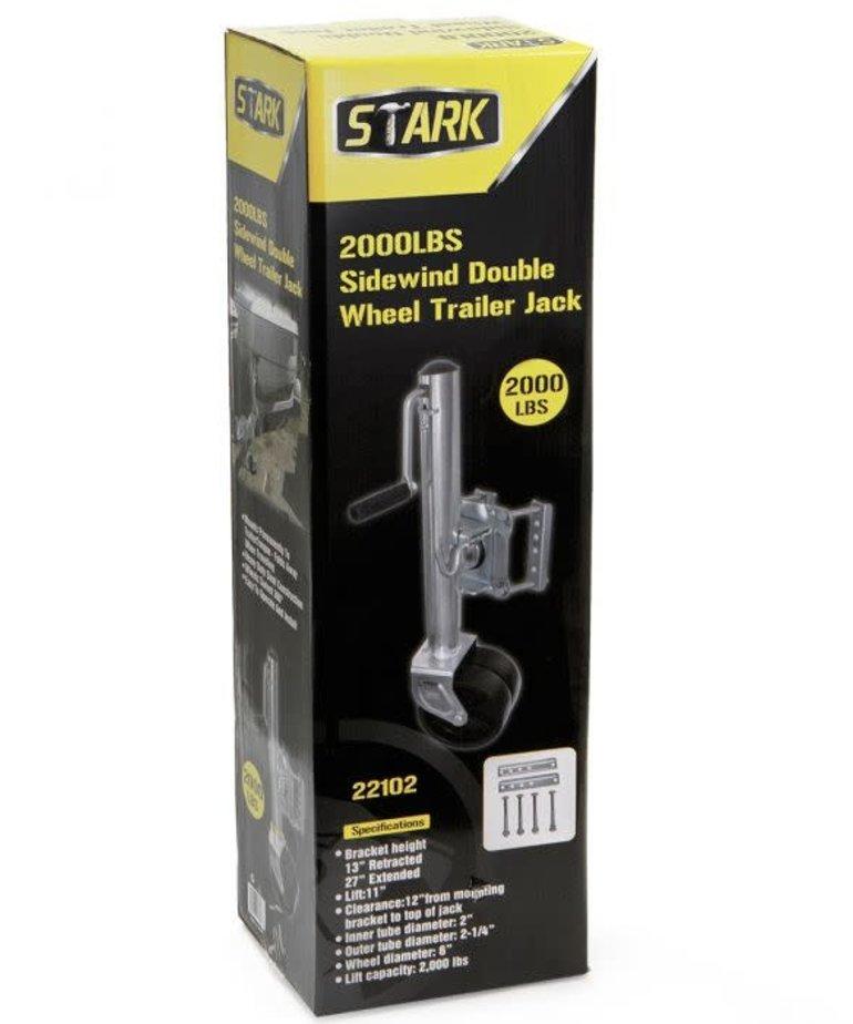 STARK Stark Trailer Jack W/ Twin Wheels 2000 LB